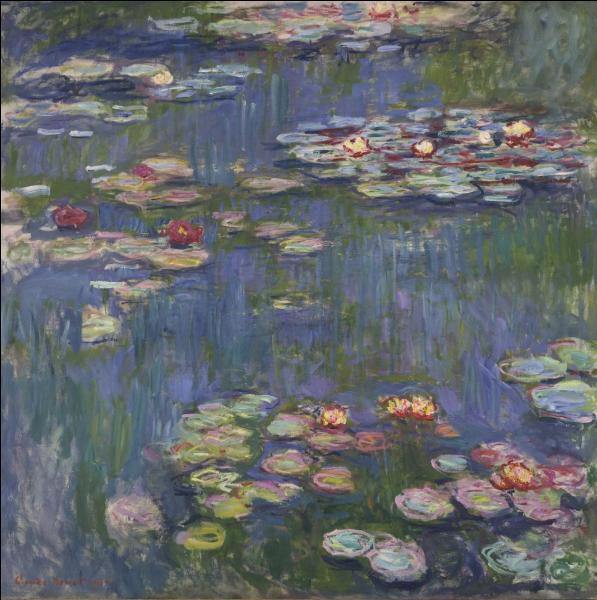 De quel ensemble de toiles, cette peinture exécutée par Claude Monet est-elle issue ?