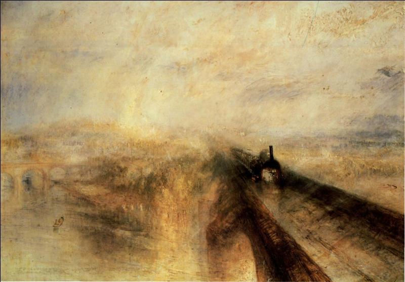 Comment s'appelle ce tableau de William Turner, représentant un train filant à toute allure ?