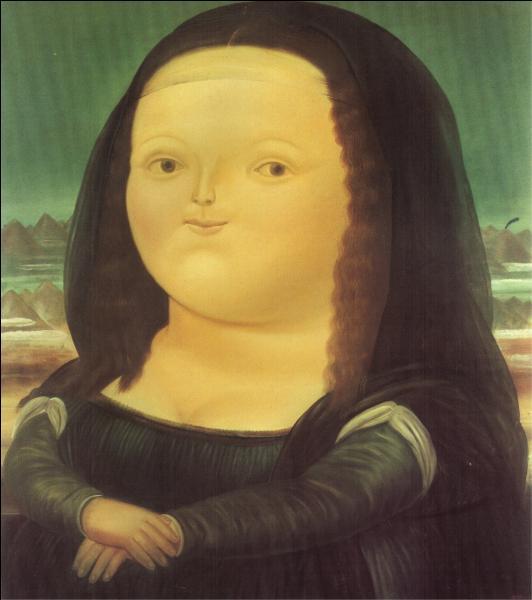 """Quel artiste Colombien est notament célèbre pour cette caricature de """"La Joconde"""" ?"""