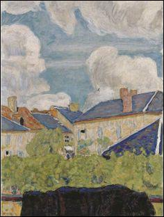"""Qui a peint """"Nuages sur les toits"""" ?"""