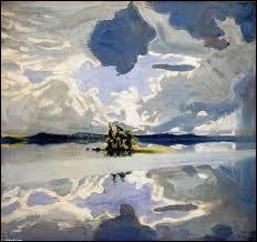"""Qui a peint """"Nuages au-dessus d'un lac"""" ?"""