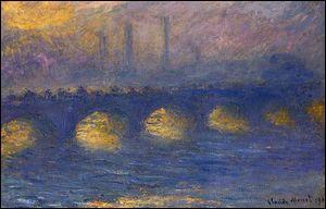 """Qui a peint """"Le pont de Waterloo, temps nuageux"""" ?"""
