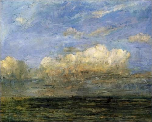 "Qui a peint ""Marine au nuage blanc"" ?"