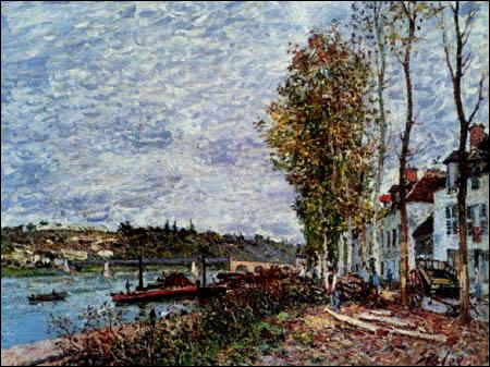 """Qui a peint """"Saint-Mammès par temps nuageux"""" ?"""