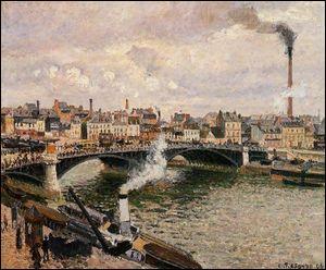 """Qui a peint """"Matin, jour nuageux, Rouen"""" ?"""