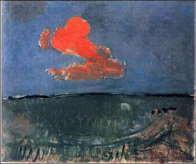 """Qui a peint """"Le nuage rouge"""" ?"""