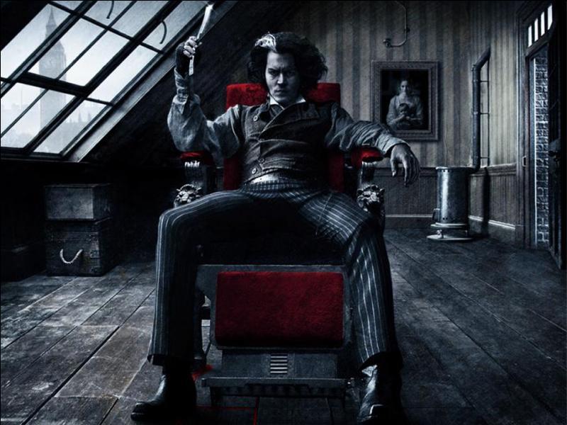 Quel acteur interprète le diabolique barbier Sweeney Todd dans le film du même nom ?