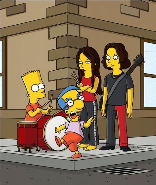Bart les rencontre après avoir commencé à jouer de la batterie. De quel groupe s'agit-il ?