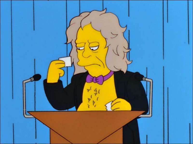 Célèbre en tant que chanteur de Black Sabbath et pour avoir été le héros d'une émission de télé-réalité autour de sa famille, il est apparu dans la saison 11 des Simpson. Qui est-il ?