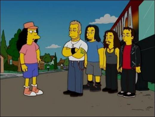 Lors d'une tournée, leur bus est tombé en panne et ils se sont retrouvés nez à nez avec Otto et Bart. De quel groupe s'agit-il ?