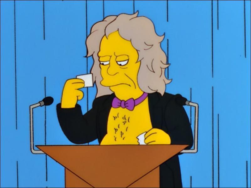 Les rock stars dans les Simpson