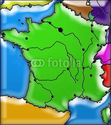 La France métropolitaine partage ses frontières terrestres avec cinq pays (territoires étrangers).