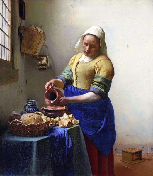 Quel est le titre de cette oeuvre empreinte d'une douce lumière, de Johannes Vermeer ?