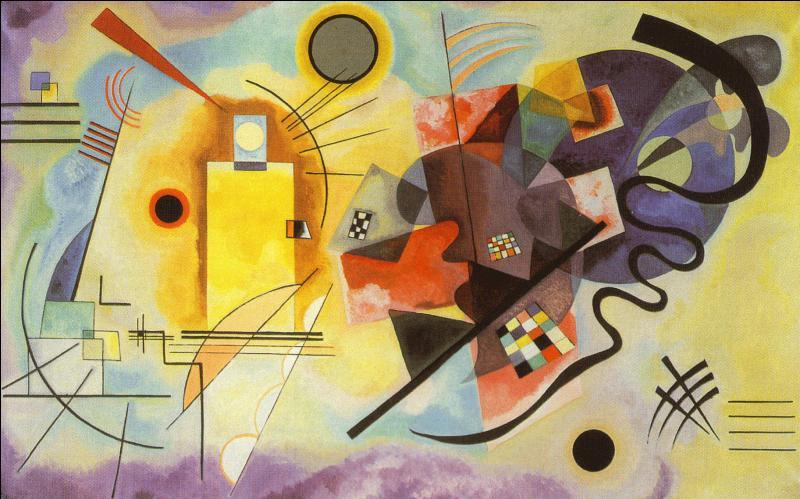 """Quel peintre russe, considéré comme le fondateur de l'art abstrait, est l'auteur de """"Jaune-rouge-bleu"""" ?"""