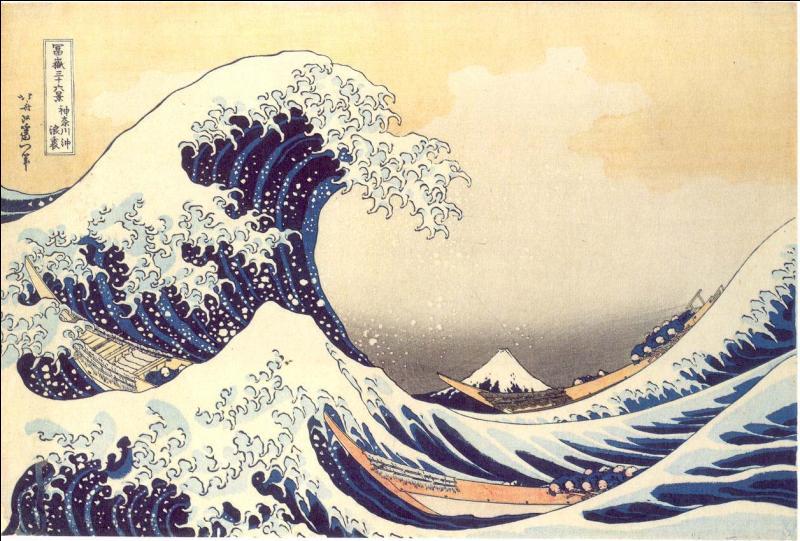 Comment s'appelle cette spectaculaire estampe de Hokusai ?