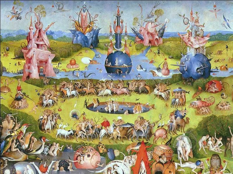 De quelle oeuvre de Jérôme Bosch est tiré ce détail central, impressionnant de par le nombre de personnages ?