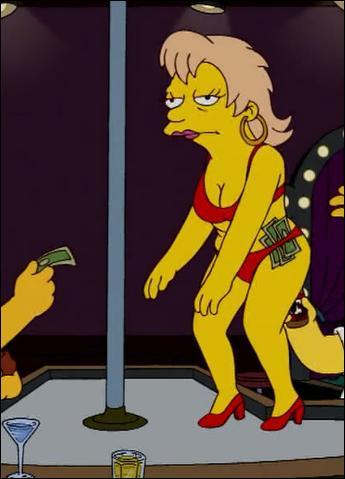Lequel de ces garçons, dans la classe de Bart, a une mère strip-teaseuse ?