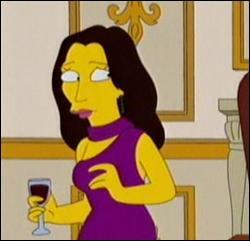 Cette femme de Président est apparue dans un épisode dans lequel elle cherche à attirer Carl Carlson dans son lit. Quel est son nom ?