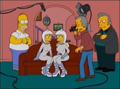 Quel est le nom du film X qu'Homer a accepté de faire tourner dans sa maison afin d'éponger des dettes ?