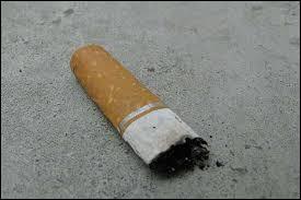 Un mégot de cigarette met .... pour disparaître entièrement.
