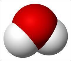 Voici une molécule d'eau. De quoi est-elle composée ?