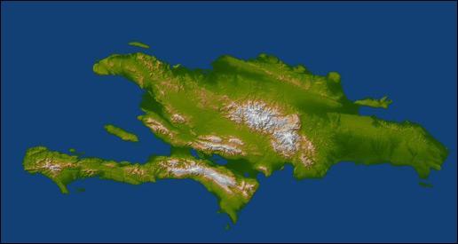 La république dominicaine occupe environ les deux tiers de cette île. Comment s'appelle-t-elle ?