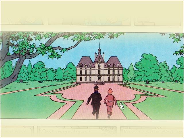 Le Château de Moulinsart est inspiré du nom d'un village belge. Lequel ?