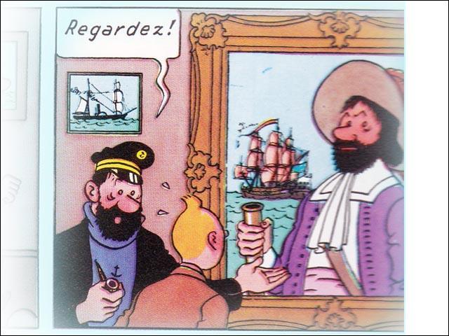 Comment se prénommait l'aïeul du capitaine, le Chevalier de Hadoque ?