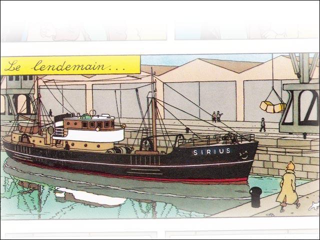 Tintin part à la recherche du trésor à bord d'un navire. Quel est son nom ?