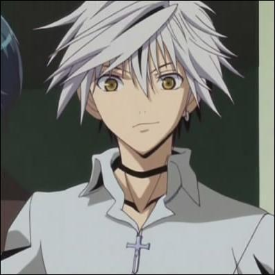 Anime homme cheveux blanc