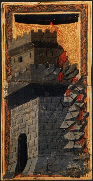 """Invités dans un château, les convives deviennent muets à la suite d'un enchantement, et c'est à travers les images d'un jeu de cartes de tarot qu'ils vont raconter leur histoire. Quel écrivain et philosophe italien du 20e siècle est l'auteur de ce récit intitulé """"Le Château des destins croisés"""" publié en 1973 ?"""