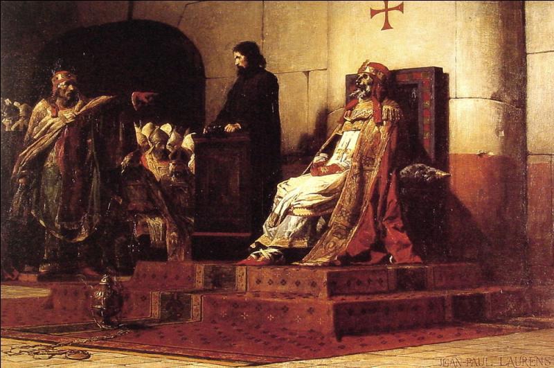 Le pape Etienne VI eut une drôle d'idée. Il décida d'une action contre un de ses prédécesseurs (Pape Formose) décédé 9 mois plus tôt ! Bon, je vous laisse chercher… mais ce n'est pas beau !