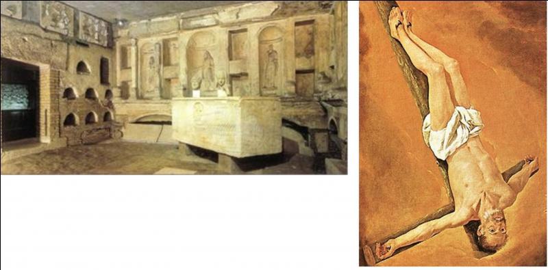 Cette personne est bicéphale. On lui connaît deux têtes ! L'une est conservée au Vatican, l'autre est conservée au sein de la basilique Saint-Jean-de-Latran (hors les murs). C'est un proche du Christ qui n'a pas voulu finir comme lui. Quelle est cette personne ?