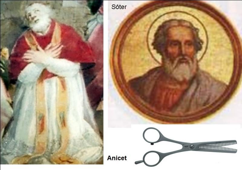 Avec les saints pères (11e et 12e papes, entre 155 et 175) Anicet et Sôter, les interdits commencent. Ils semblent ridicules mais montrent déjà la volonté d'imposer des commandements aux religieux et à la population. Qu'ont-ils décidé ?