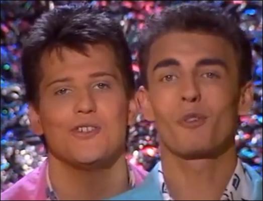"""1988. 'Et tu chantes, chantes, chantes ce refrain qui te plaît / Et tu tapes, tapes, tapes, tapes ce rythme qui t'entraîne jusqu'au bout de la nuit"""". Le duo 'Début de Soirée' nous entraîne avec lui pour une ..."""