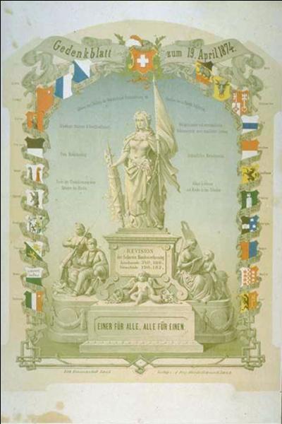 """La devise nationale suisse est : """"Un pour tous, tous pour un""""."""
