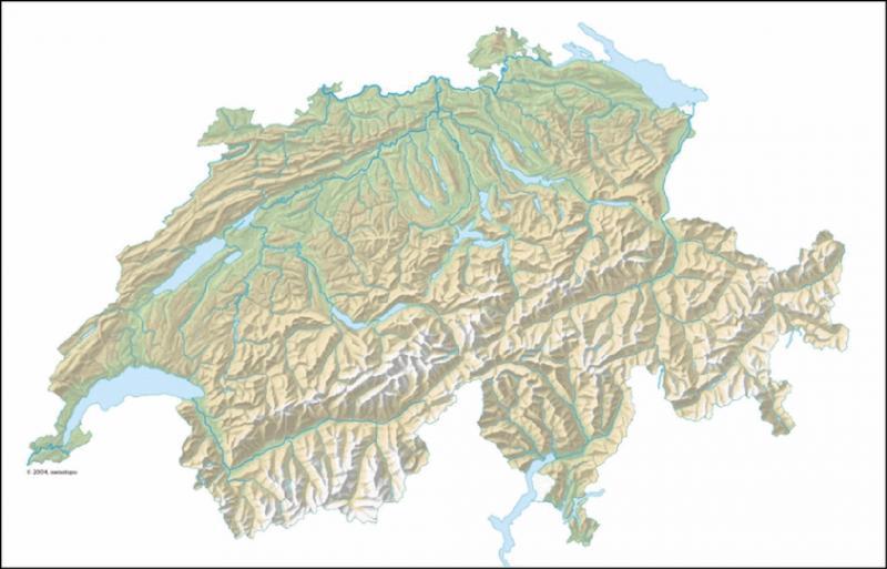 La Suisse est entourée de cinq pays.