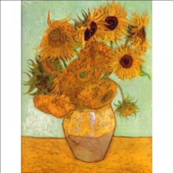 """Le 30 mars 1987, cette toile intitulée """"14 tournesols dans un vase"""" est vendue aux enchères 22, 5 millions de livres sterling, et devient le tableau le plus cher du monde, qui en est l'auteur ?"""