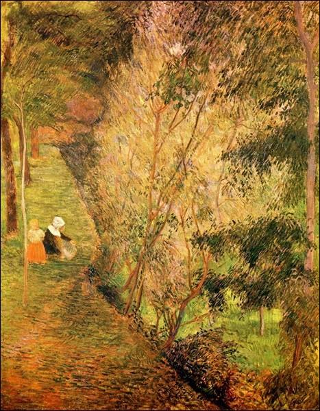 Qui a peint L'allée dans la forêt ?