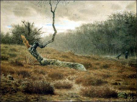 Qui a peint Le bouleau mort dans la forêt de Fontainebleau ?