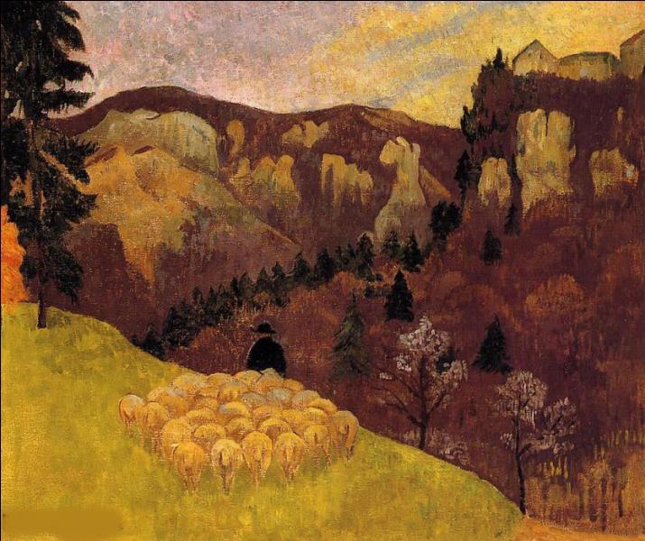 Qui a peint Troupeau dans la forêt noire ?