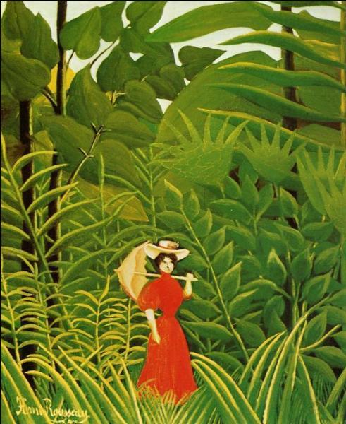"""Qui a peint Femme avec ombrelle dans la forêt exotique"""" ?"""