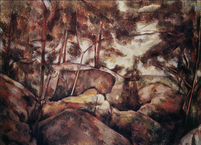 Qui a peint Rochers dans la forêt ?