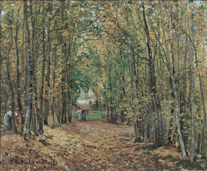 Qui a peint La forêt de Marly ?