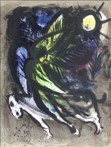Qui a peint L'ange survolant la forêt ?