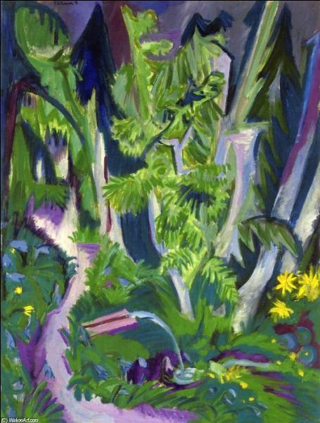 Qui a peint La forêt dans la montagne ?
