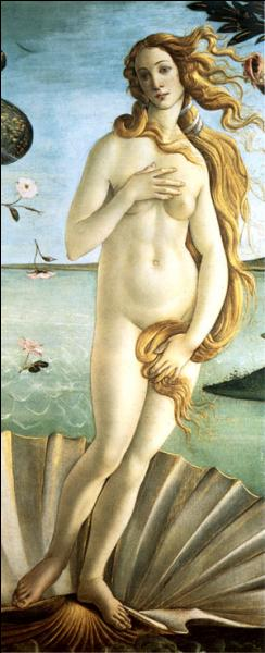 Qui a peint 'La naissance de Vénus' déesse de l'amour ? (Ici, une partie du tableau)