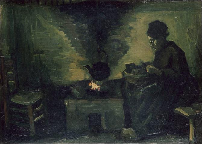 """Quel grand peintre post-impressionniste a réalisé """"Paysanne près de l'âtre"""", toile conservée au Musée d'Orsay ?"""