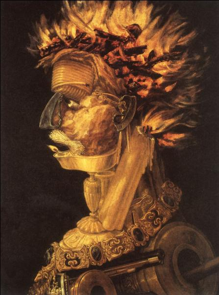"""""""Le Feu"""" fait partie d'une série intitulée """"Les Quatre éléments"""". Quel peintre maniériste en est l'auteur ?"""