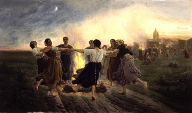 """Quel peintre et poète né dans le Pas-de-Calais, se qualifiant lui-même de """"peintre paysan"""", a réalisé """" Le feu de la Saint-Jean"""" en 1891 ?"""